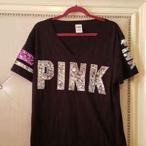 VS bling sequin tee shirt.💗